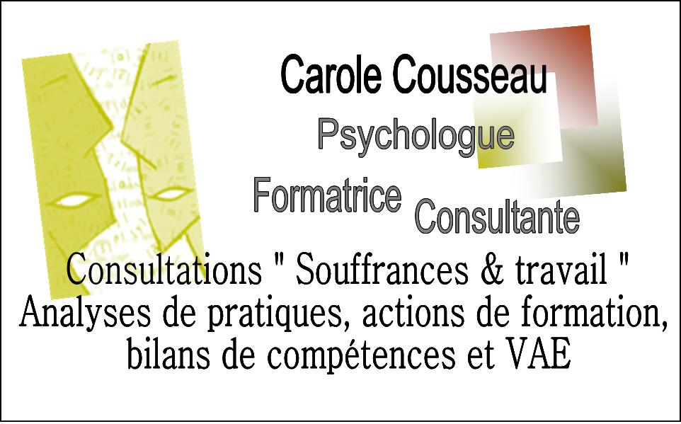 Carole Cousseau - Psychologue - Formatrice - Consultante